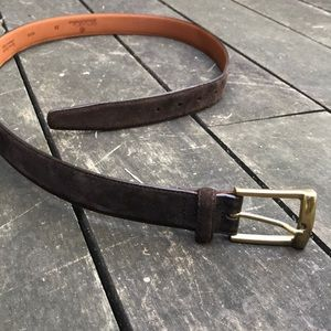 Brooks Brothers Accessories - Brooks Brothers dark brown suede leather belt
